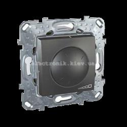 Schneider (Шнайдер) Unica графит диммер поворотный 40-400W