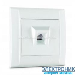 Makel Defne Белый Розетка телефонная (RJ11)