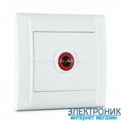 Makel Defne Белый Розетка ТВ проходная (12дБ)