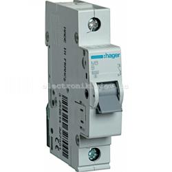 Выключатель автоматический Hager 1P B 10А MB110A