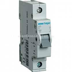 Выключатель автоматический Hager 1P B 50А MB150A