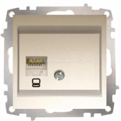 Механизм Розетка компьютерная EL-BI Zena Silverline Титаниум