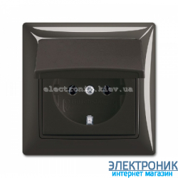Розетка SCHUKO 16А 250В IP44 в сборе с рамкой ABB Basic 55 шато