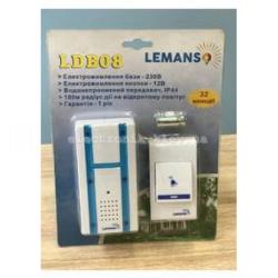 Звонок беспроводной в розетку 230V LEMANSO LDB08