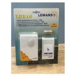 Звонок беспроводной на батарейках 12V LEMANSO LDB10