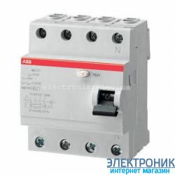 УЗО трехфазное ABB FH204 АС-40А 30mA