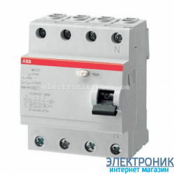 УЗО трехфазное ABB FH204 АС-63А 30mA
