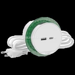 Врезной блок розетки USB тип А + тип С, Schneider Unica цвет белый