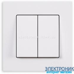 Выключатель 2-кл. белый Eqona Gunsan
