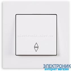 Выключатель 1-кл. проходной белый Eqona Gunsan