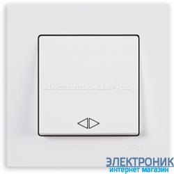 Выключатель 1-кл. перекрестный белый Eqona Gunsan