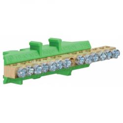 Клемма защитная с держателем 6x16+7x10мм2 Hager