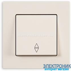 Выключатель 1-кл. проходной крем Eqona Gunsan