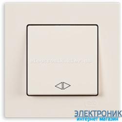 Выключатель 1-кл. перекрестный крем Eqona Gunsan