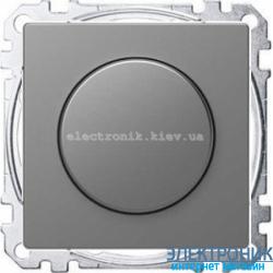 Диммер поворотный для LED ламп, цвет Сталь, Schneider Merten D-Life