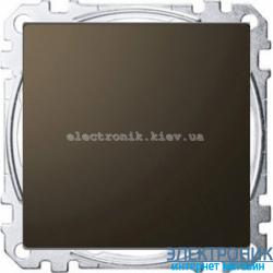 Выключатель 1-клавишный металлический ,проходной (с двух мест), цвет Мокка, Schneider Merten D-Life