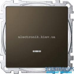 Выключатель 1-клавишный , с подсветкой, цвет Мокка, Schneider Merten D-Life