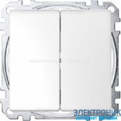 Выключатель 2-клавишный , цвет Белый лотос, Schneider Merten D-Life
