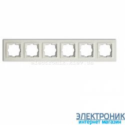 Рамка 6-ая горизонтальная Despina белый
