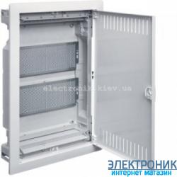 Hager Volta VU24NWB. Щит мультимедийный 2-х рядный внутренней установки с металлической дверью