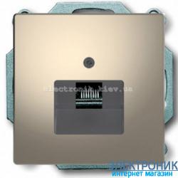 Розетка компьютерная 1-ая кат.6, RJ-45 (интернет), цвет Никель, D-Life