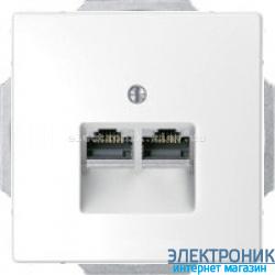 Розетка компьютерная 2-ая кат.6, RJ-45 (интернет), цвет Белый лотос, Schneider Merten D-Life