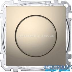 Диммер поворотно-нажимной , 20-600Вт , цвет Никель, D-Life