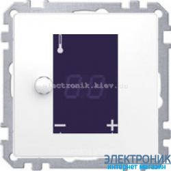 Терморегулятор для теплого пола сенсорный с датчиком, цвет Белый лотос, Schneider Merten D-Life