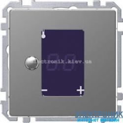 Терморегулятор для теплого пола сенсорный, цвет Сталь, Schneider Merten D-Life
