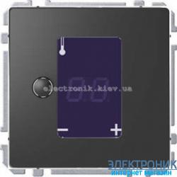 Универсальный программируемый терморегулятор с сенсорным дисплеем, цвет Антрацит, Schneider Merten D-Life