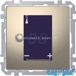 Терморегулятор для теплого пола сенсорный, цвет Никель, D-Life