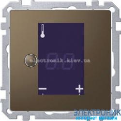 Терморегулятор для теплого пола сенсорный металлический, цвет Мокка, Schneider Merten D-Life