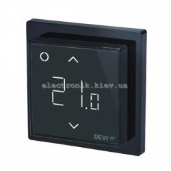 Программируемый терморегулятор для теплого пола DEVIreg Smart Черный