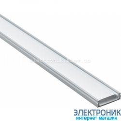 Профиль прямой алюминиевый анодированный  2 метра цвет серебро.