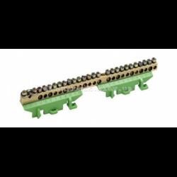 Клемма защитная с держателем 1х25+11x16+13x10мм2 Hager