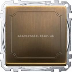 Выключатель 1-кл перекрестный Merten System Design Античная латунь