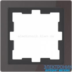 Schneider Merten D-LIFE РАМКА 1-ПОСТОВАЯ, ЧЕРЫЙ ОНИКС , Стекло
