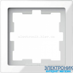 Schneider Merten D-LIFE РАМКА 1-ПОСТОВАЯ, БЕЛЫЙ КРИСТАЛЛ , Стекло