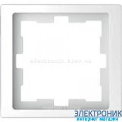 Рамка 1-ая (одинарная), цвет Белый Лотос, D-Life