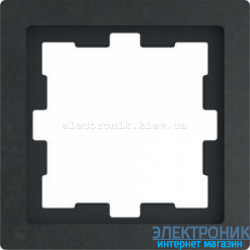 Schneider Merten D-LIFE РАМКА 1-ПОСТОВАЯ, БАЗАЛЬТ , Камень полированный