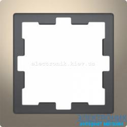 Рамка 1-ая (одинарная), цвет Никель, D-Life