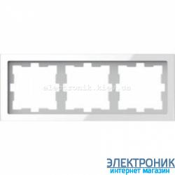 D-LIFE РАМКА 3-ПОСТОВАЯ, БЕЛЫЙ КРИСТАЛЛ , Стекло