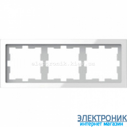 Schneider Merten D-LIFE РАМКА 3-ПОСТОВАЯ, БЕЛЫЙ КРИСТАЛЛ , Стекло