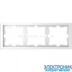 Рамка 3-ая (тройная) , цвет Белый Лотос, D-Life