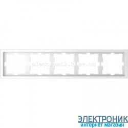 Рамка 5-ая (пятерная) , цвет Белый Лотос, Schneider Merten D-Life