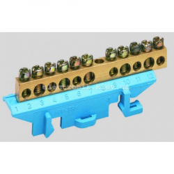 Клемма нейтральная с держателем 5x16+6x10мм2 Hager