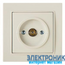 Розетка ТВ Концевая КРЕМ THOR