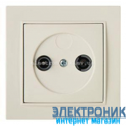 Розетка ТВ-Радио Концевая 1.5dB КРЕМ THOR