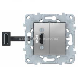 Розетка HDMI, Алюминий, серия Unica New