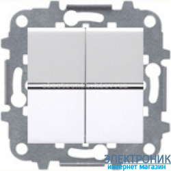 Выключатель 2-кл. проходной ABВ Zenit белый